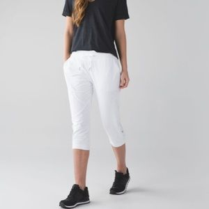 Lululemon Studio Crop II White Size 4